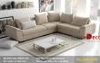 Tiện ích với sofa nỉ cho phòng khách hiện đại