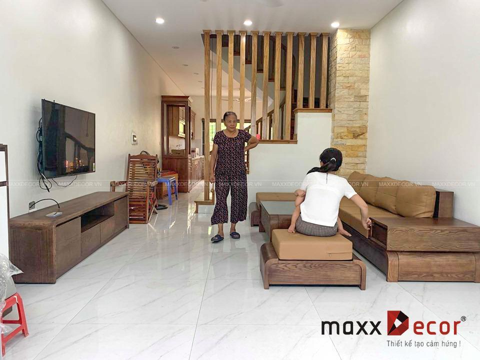 sofa gỗ tự nhiên cao cấp đẹp tại Hà Nội