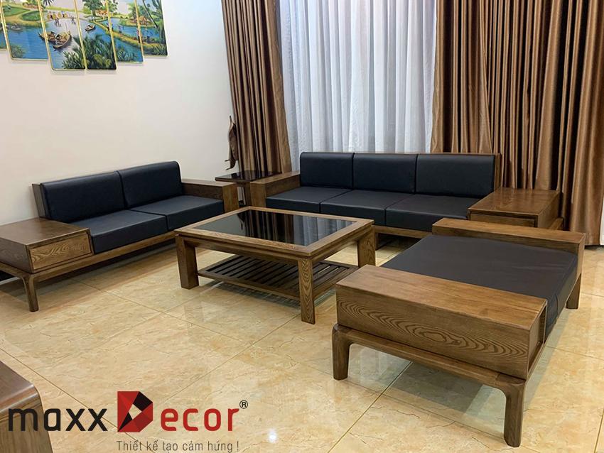Mẫu sofa gỗ tự nhiên giá rẻ
