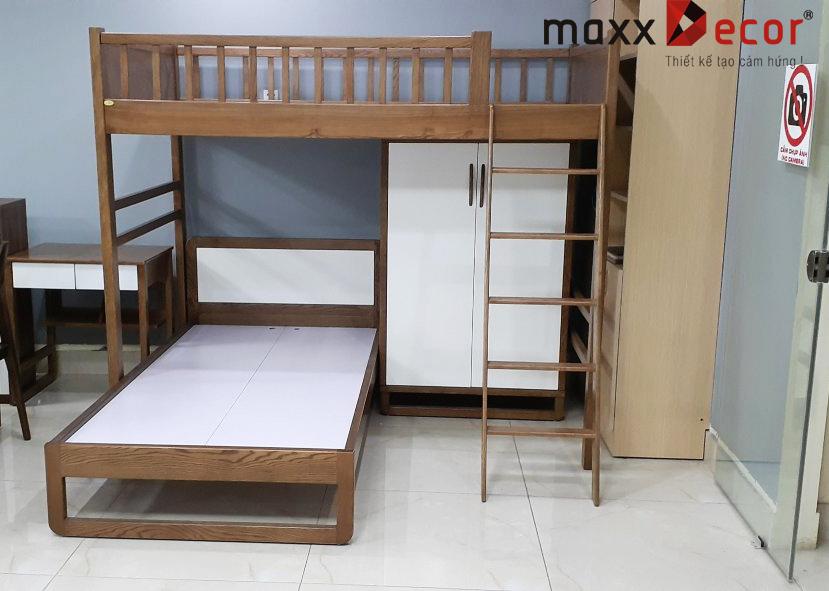 Giường tầng trẻ em gỗ tự nhiên