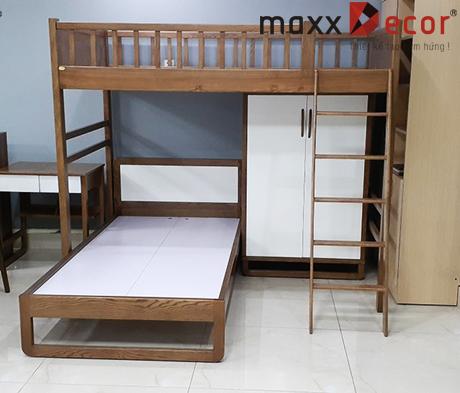 Giường tầng cho trẻ em gỗ tự nhiên