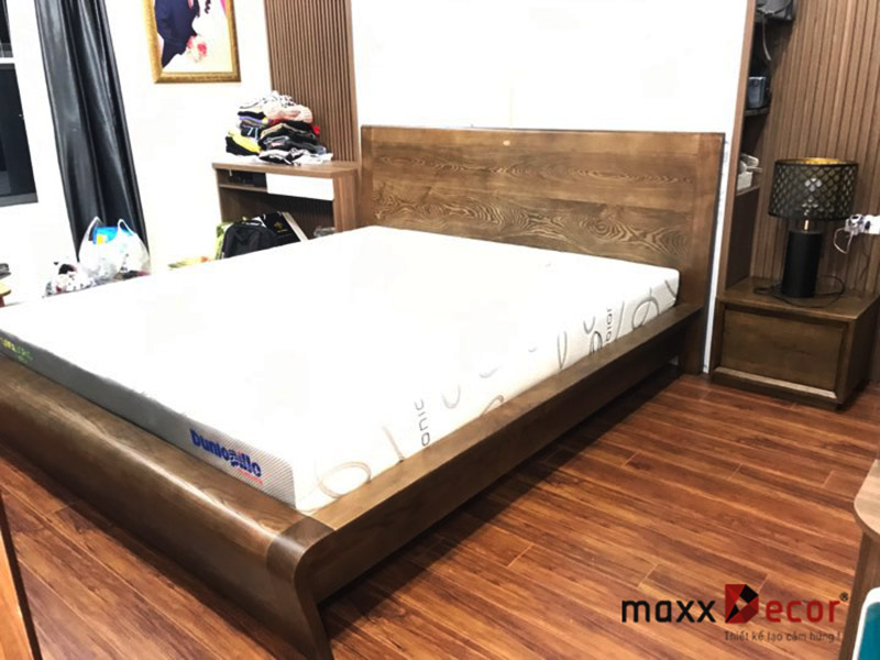 Giường ngủ gỗ tự nhiên hiện đại