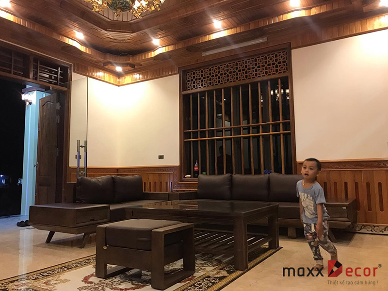 Sofa gỗ tự nhiên hiện đại