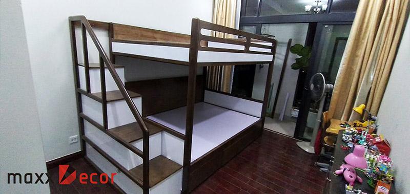 Giường tầng gỗ đẹp thông minh