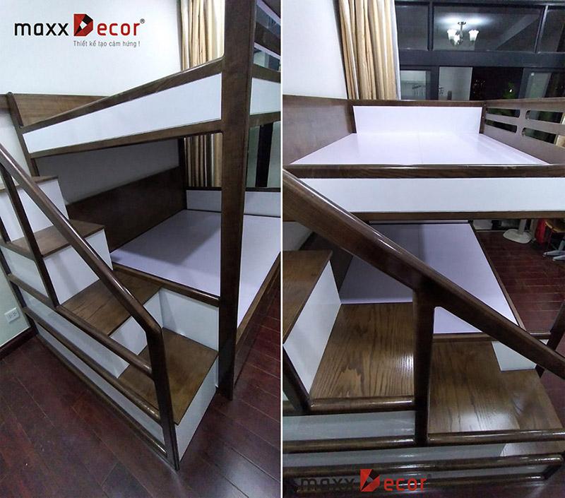 Giường tầng gỗ sang trọng đẹp