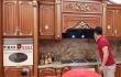 Thiết kế thi công mẫu tủ bếp gỗ gõ đẹp hiện đại và sang trọng