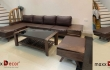 Mẫu sofa gỗ óc chó mã MDG 177w đẳng cấp tại nhà khách