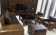 Bộ sofa gỗ MDG 223 gỗ tần bì sơn giả màu óc chó tại nhà khách Hải Dương